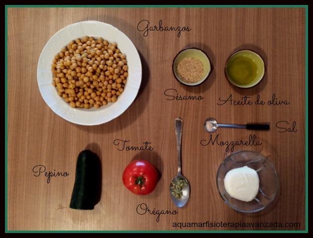 ingredientes receta sencilla garbanzos